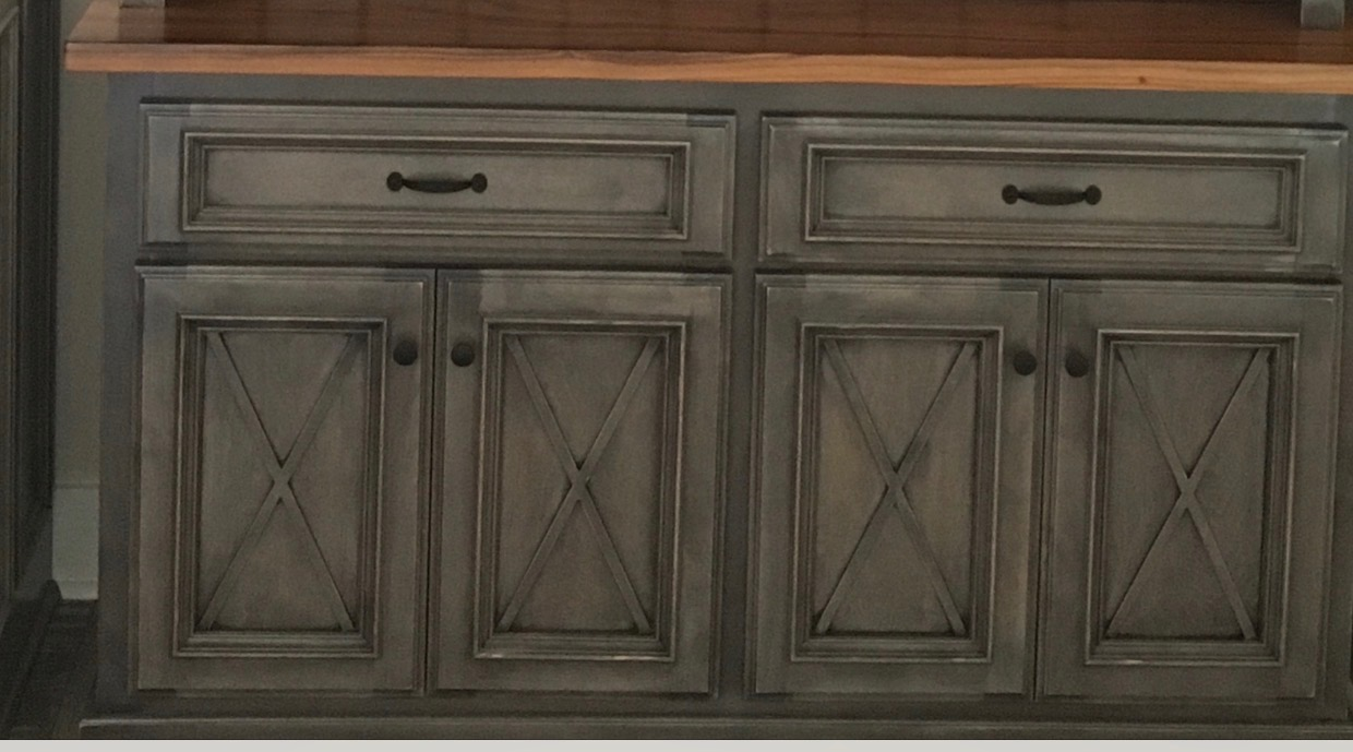 LUXURY FEEL REMODEL OF EXISTING CABINETS WITH MULLION GRIDS