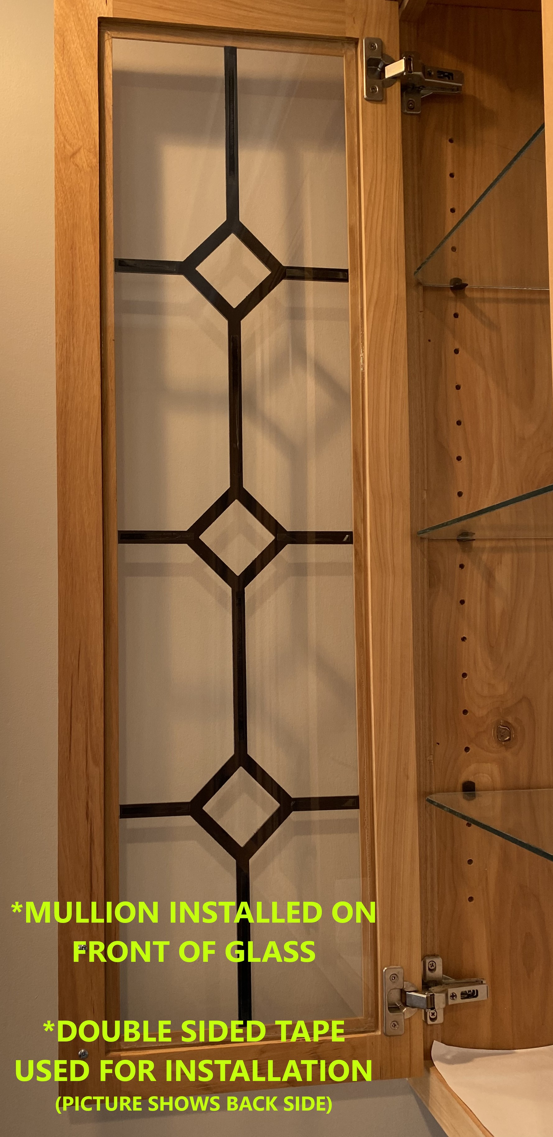 OPEN CABINET - INSTALLED WITH DOUBLE SIDED TAPE