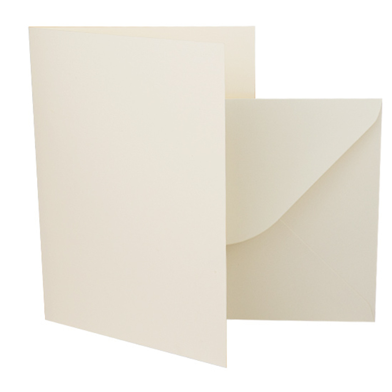 50 x Ivory A5//C5 Card Blanks and Envelopes