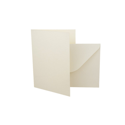 A7 Card Blanks with Envelopes, Ivory Linen