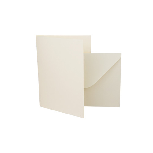 A7 Card Blanks with Envelopes, Ivory Silk 350gsm
