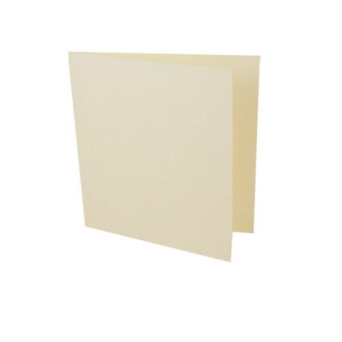 Large Square Card Blanks, Cream Matte
