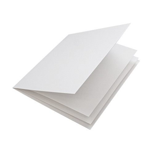 White matte paper inserts, folds to fit large square cards
