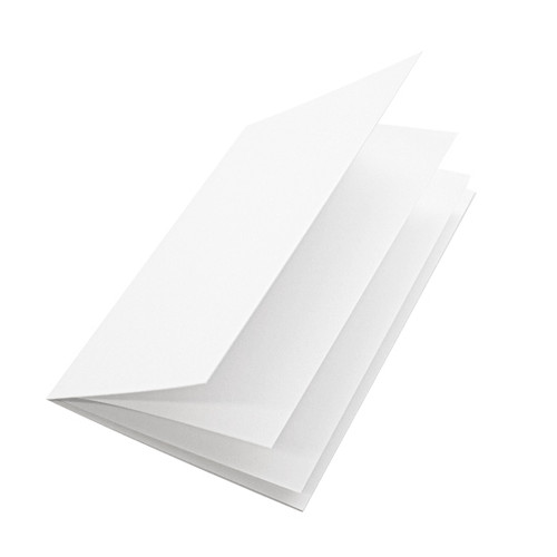 White silk insert papers, to fit a5 cards