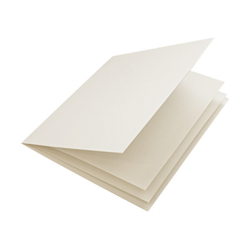 Ivory silk paper inserts, folds to fit large square cards