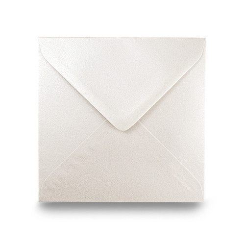Square Envelopes 155mm, Ivory White Pearl