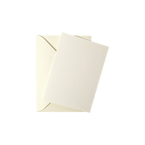 A7 Ivory hammer mini flat sheet cards with envelopes