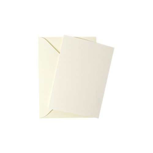 A7 Ivory linen mini flat sheet cards with envelopes