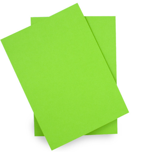 A5 Card Sheets, Lime Green Matte (50 pack)