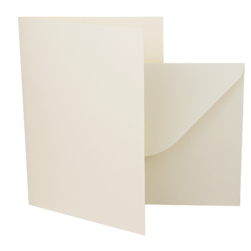 A5 Card Blanks with Envelopes, Ivory Smooth 250gsm