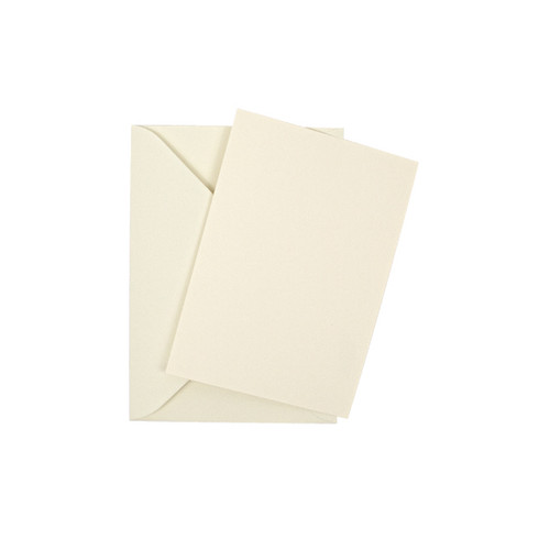A7 Ivory smooth mini flat sheet cards with envelopes