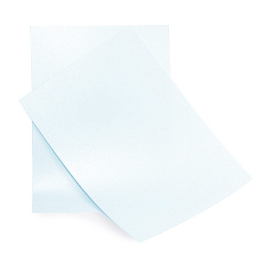 A6 Pale blue pearl card sheets
