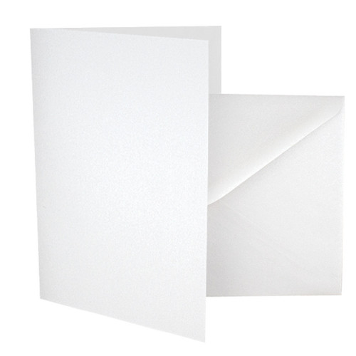 A5 Ice white pearl card blanks with envelopes