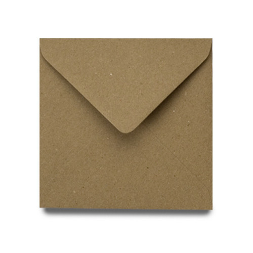 Square Envelopes 155mm, Recycled Brown Kraft