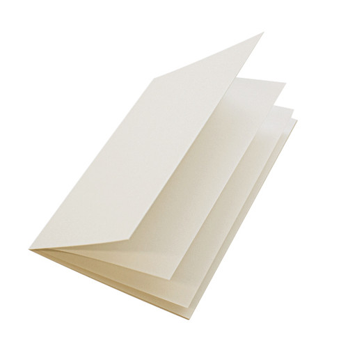 Ivory silk paper inserts, A4 folds to fit A5 cards