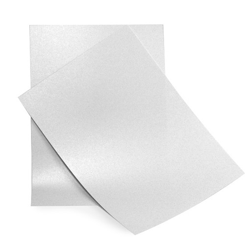 A5 Pale silver pearl card sheets
