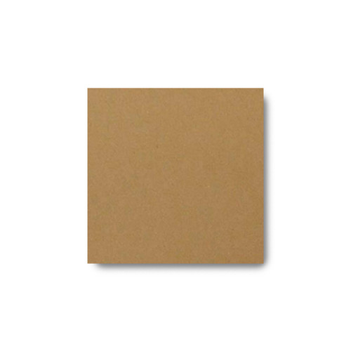 Pocket Insert Card, Square Brown Kraft Recycled