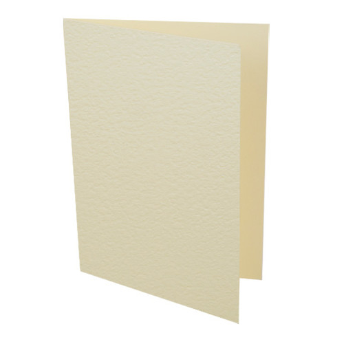 A5 Card Blanks, Cream Hammer
