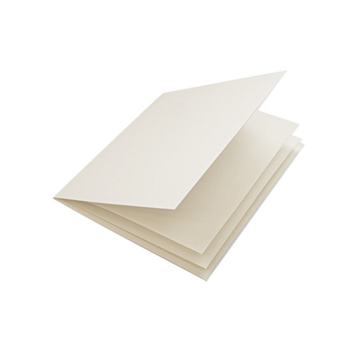 Ivory linen paper inserts, folds to fit small square cards
