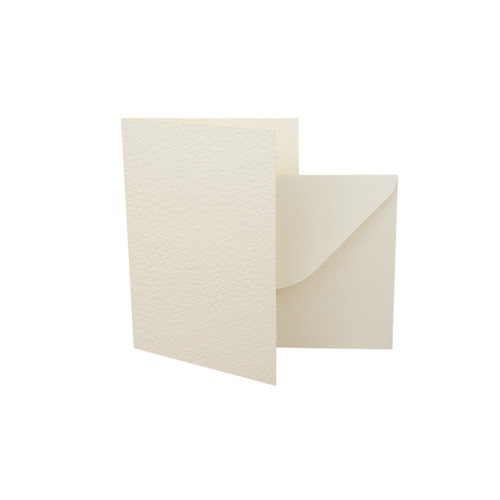 A7 Card Blanks with Envelopes, Ivory Hammer