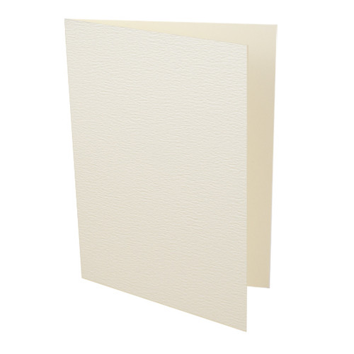 A6 Ivory accent textured card blank