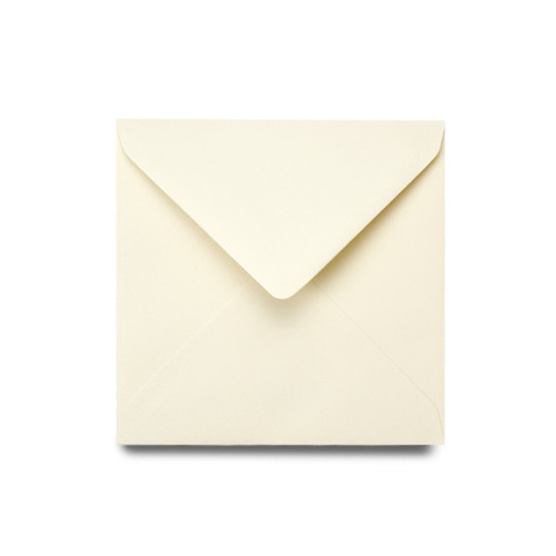 Square 130mm luxury ivory envelope