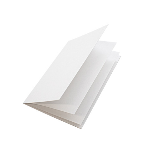 White matte paper inserts, A5 folds to fit A6 cards