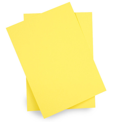 A6 Card Sheets, Daffodil Yellow Matte (50 pack)
