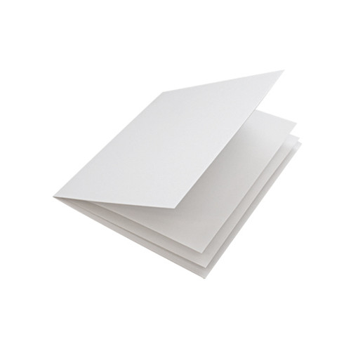 White linen paper inserts, folds to fit small square cards