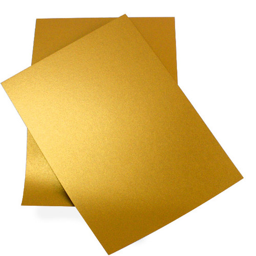 A5 Pearl Card Sheets, Gold (50 pack)
