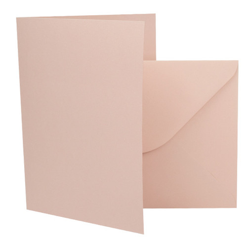 A6 Card Blanks with Envelopes, Rose Gold Matte