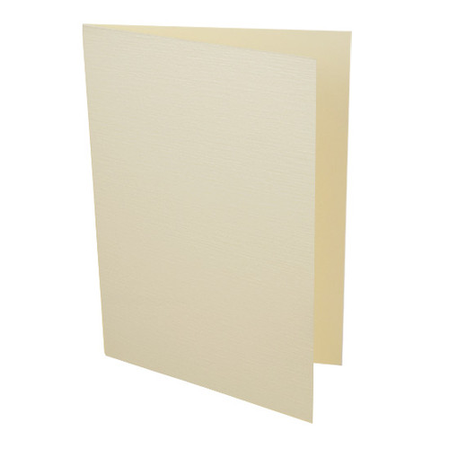 A6 Card Blanks, Cream Linen