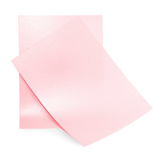 A6 Baby pink pearl card sheets