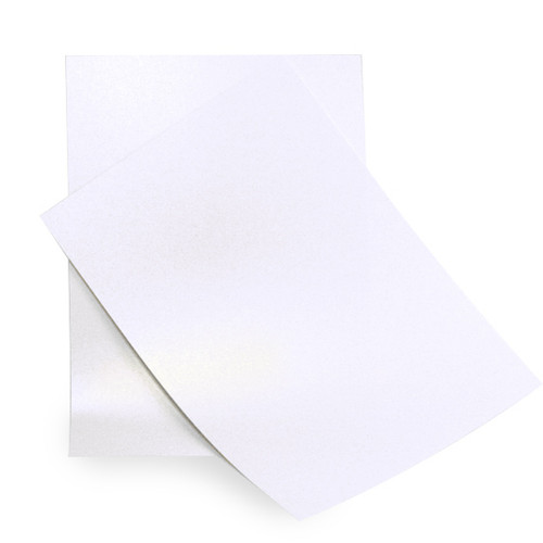 A5 White gold dust pearl card sheets