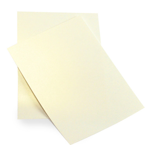 A6 Pearl Card Sheets, Ivory Gold Dust (50 pack)