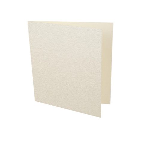 Small square ivory hammer card blank