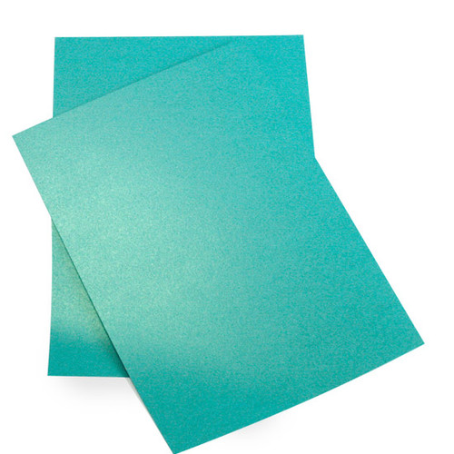 A4 Turquoise pearl card