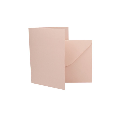 A7 Rose gold matte card blanks with envelopes