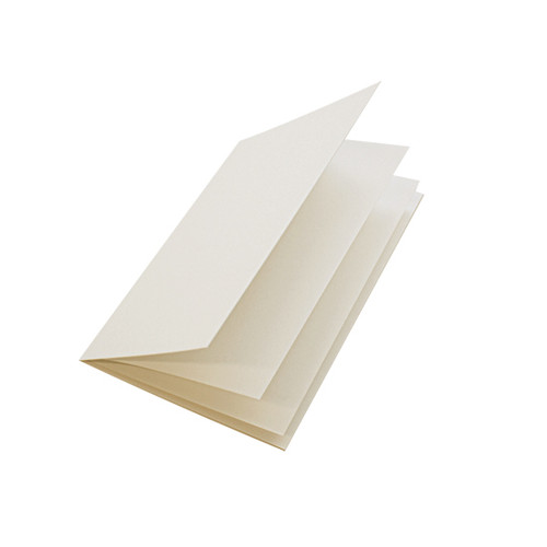Ivory silk paper inserts, A5 folds to fit A6 cards