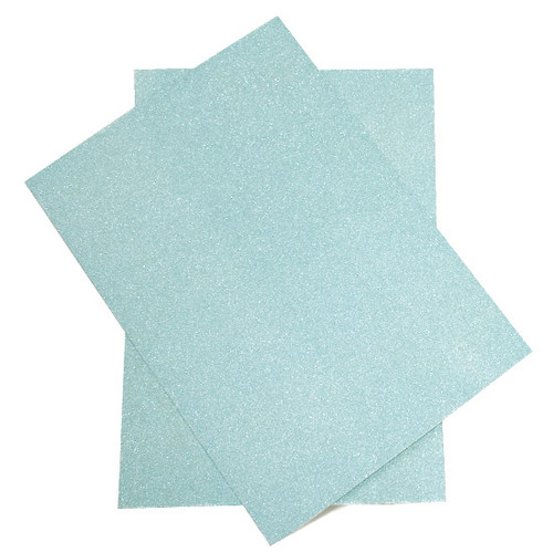 Wholesale Box, A4 Aqua Glitter Card (non-shedding) (250 pack)