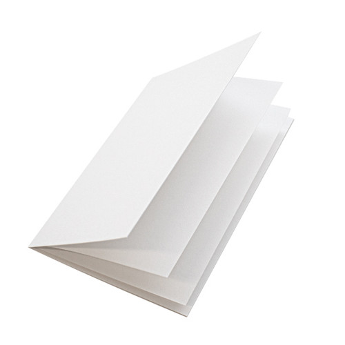 White linen paper inserts, A4 folds to fit A5 cards