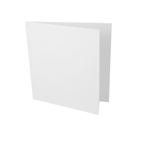 Small square white card blank