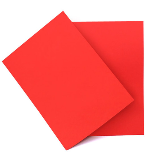 A5 Scarlet red card sheets