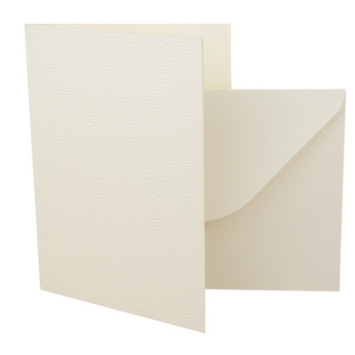 A5 Ivory accent card blanks with envelopes