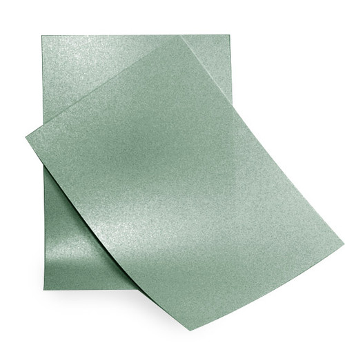 A6 Pearl Card Sheets, Sage Green (50 pack)