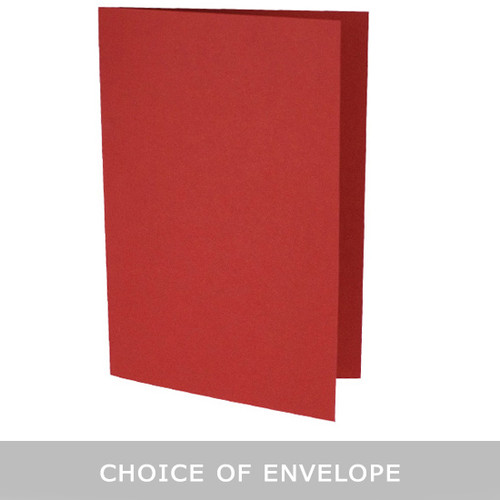 A5 Cherry red card blanks with envelope choice