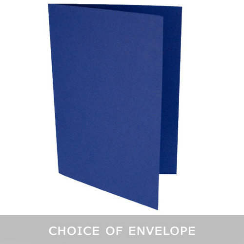 A5 Midnight blue card blank with envelope choice