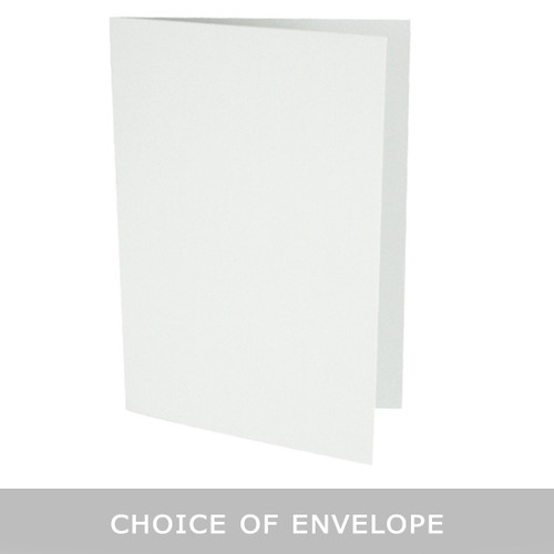 A5 Silver grey card blanks with envelope choice