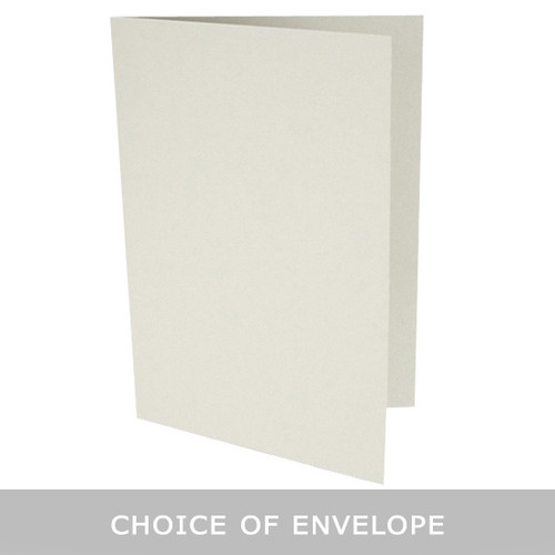 A5 Pale grey card blanks with envelope choice