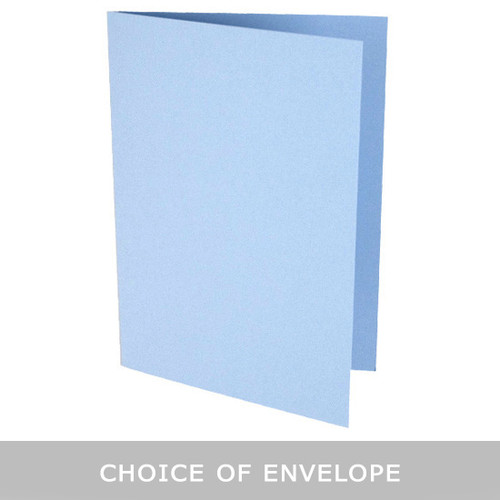 Pastel Blue A6 Card Blank with choice of envelope